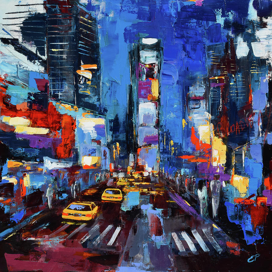 Saturday Night In Times Square Painting