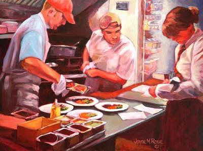 Human Painting - Saturday Night Rush   Sold by Jayne Rose