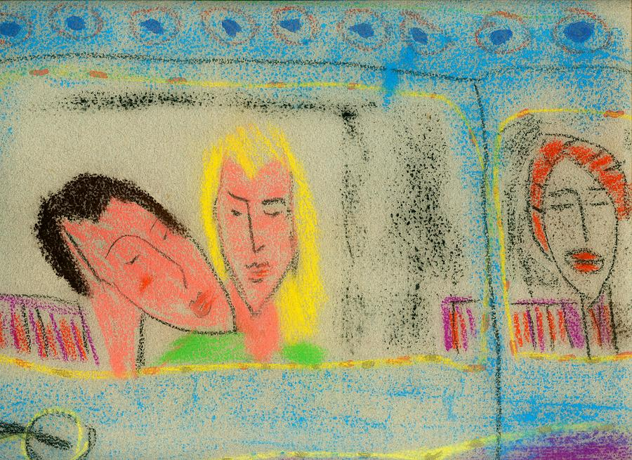Figurative Artwork Drawing - Saturday Nite Hot by Jerry Hanks