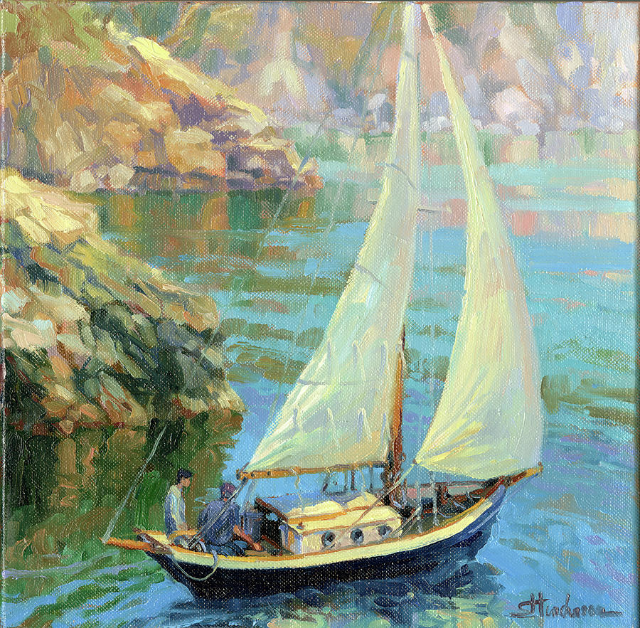 Sailboat Painting - Saturday by Steve Henderson
