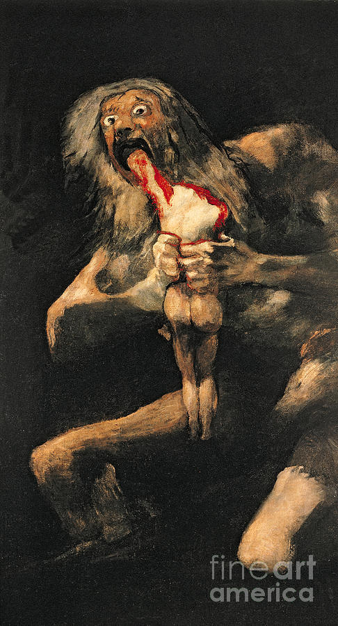 Saturn Painting - Saturn Devouring One Of His Children  by Goya