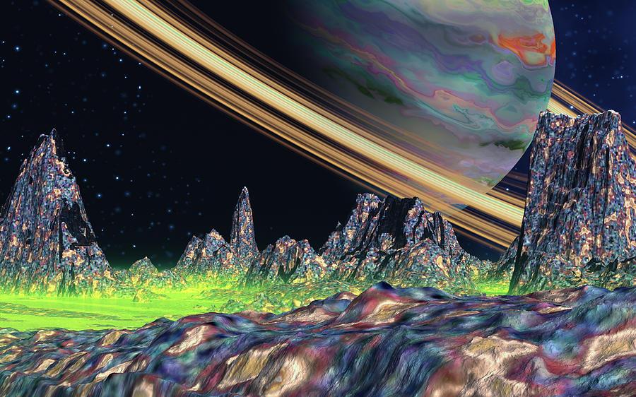 Saturn View Digital Art by David Jackson