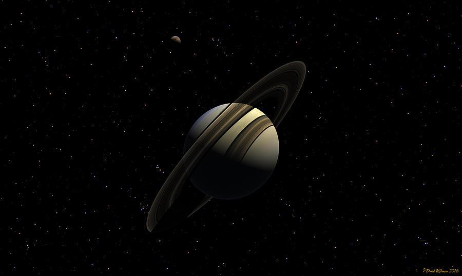 Saturn with Titan by David Robinson
