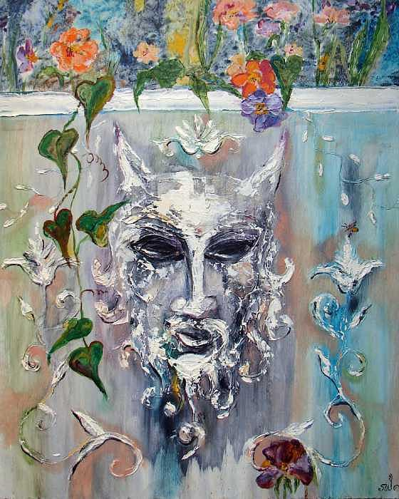 Satyr And Bumble Bee Painting by Sarah Wharton White