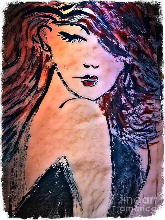 Lady Painting - Saucy Lady by Deborah Selib-Haig DMacq