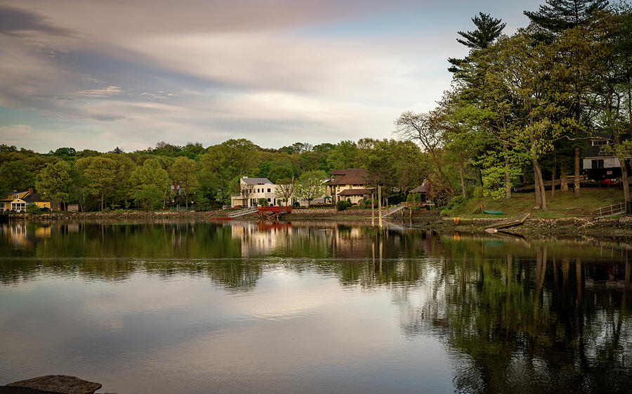 Saugatuck Photograph - Saugatuck River Evening By Mike-hope by Michael Hope