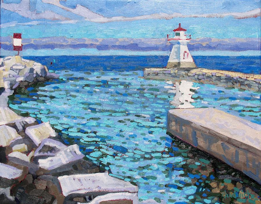 807 Painting - Saugeen Range Light by Phil Chadwick