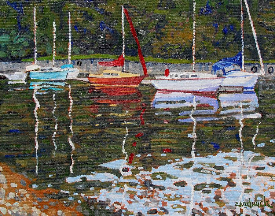 806 Painting - Saugeen Sailboats by Phil Chadwick