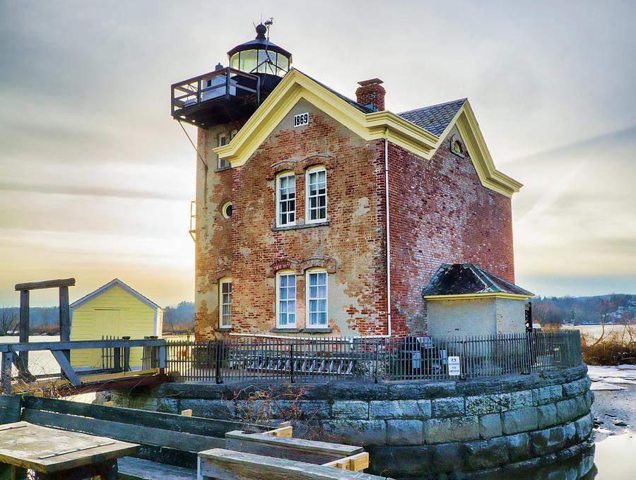 Lighthouse Photograph - Saugerties Lighthouse by Nancy De Flon