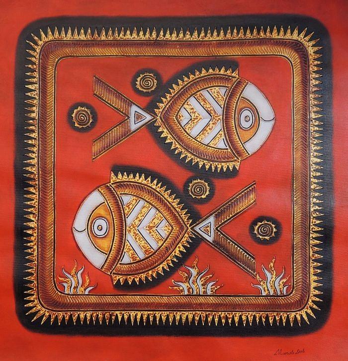 Saura 151 Painting by Manas Das