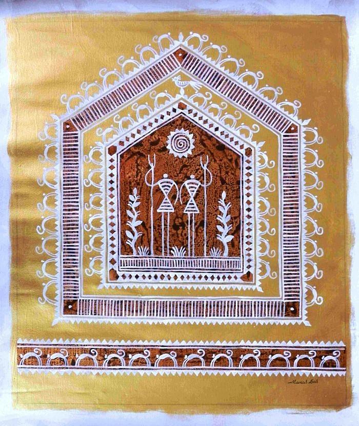 Saura 189 Painting by Manas Das