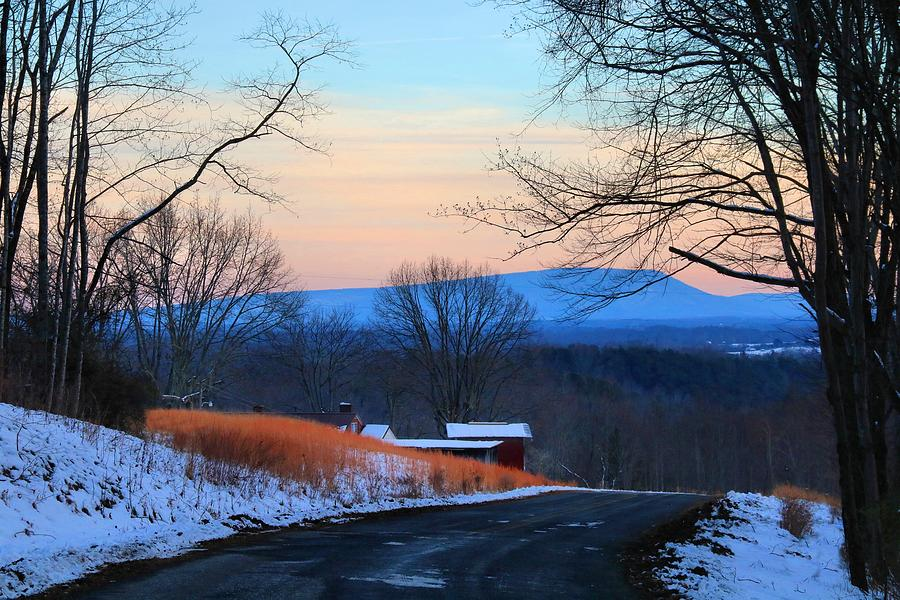 Sauratown Mountain Photograph - Sauratown View In Winter by Kathryn Meyer