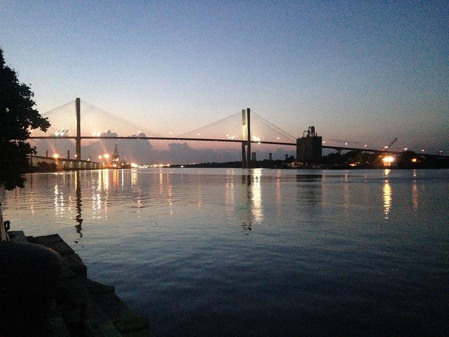 Savannah Bridge Evening  by Francis Chester