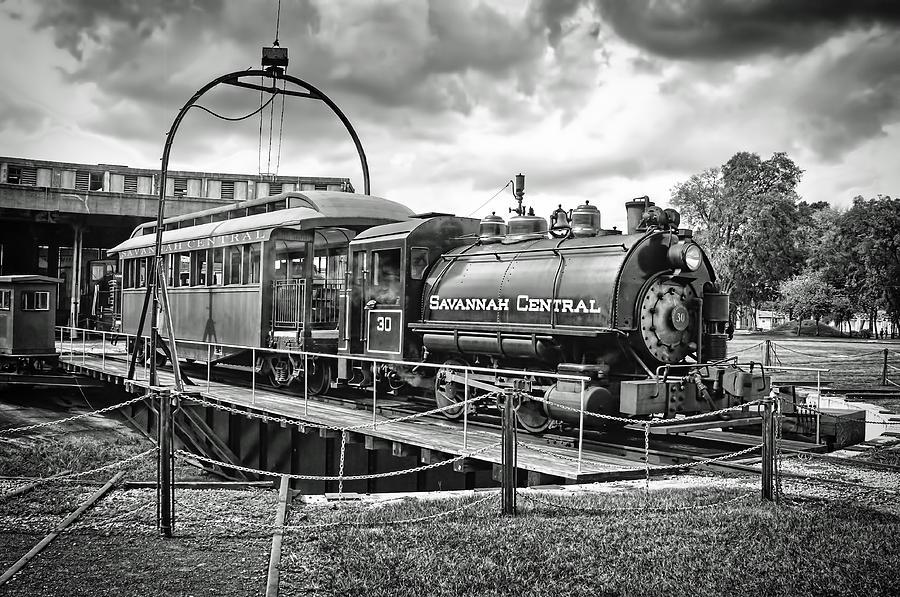 Savannah Central Steam Engine On Turn Table Photograph
