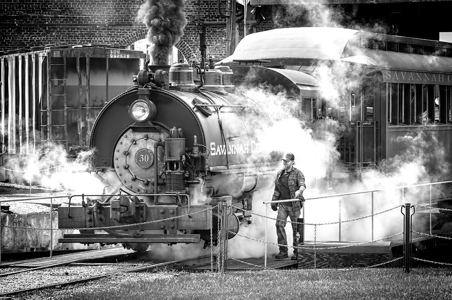 Savannah Central Steam Locomotive Photograph