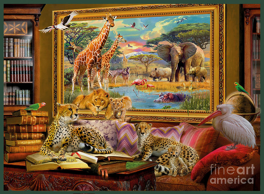 Africa Digital Art - Savannah Coming To Life by MGL Meiklejohn Graphics Licensing