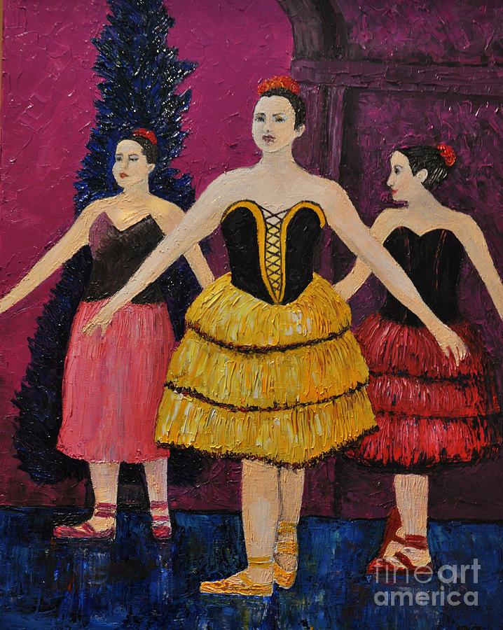 Ballerinas Painting - Savannah by Reb Frost