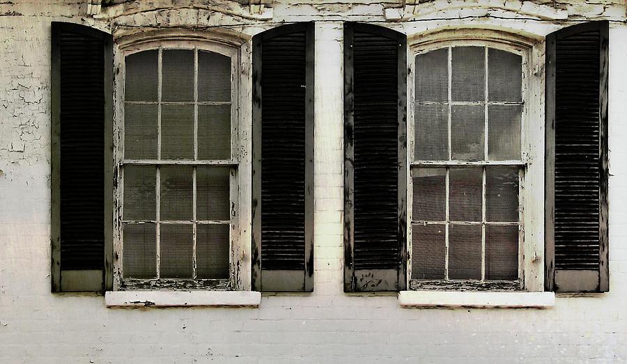 Window Photograph - Savannah Shutter by JAMART Photography