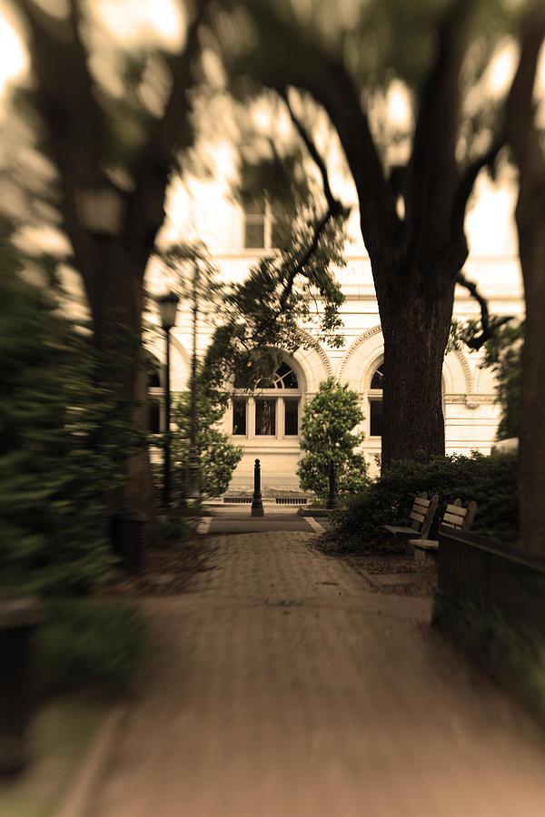 Photo Photograph - Savannah Square by Sandy Belk