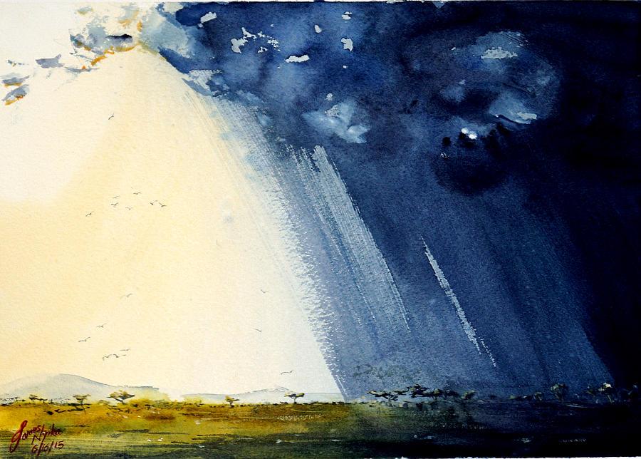 Storms Painting - Savannah Storms by James Nyika