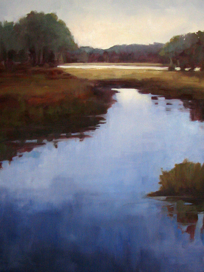 Landscape Painting - Savannah Sunrise by Donna Thomas