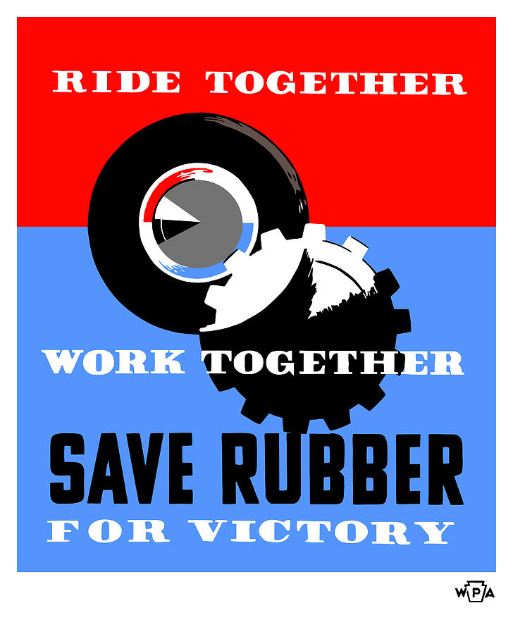 Save Rubber For Victory - Wpa Mixed Media