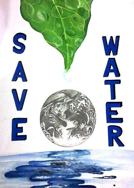 Save Water Poster Painting By Ankita Singh
