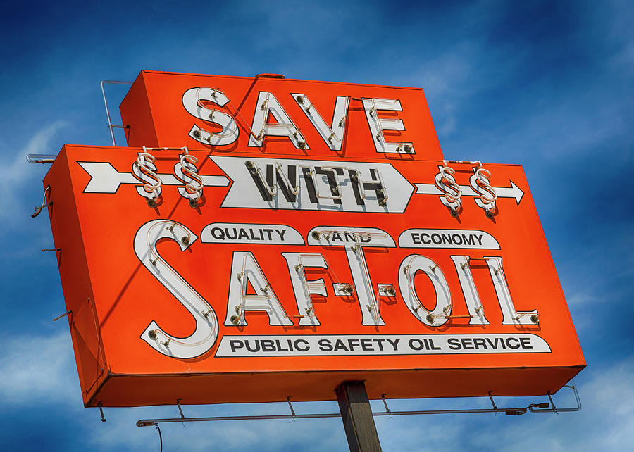 Macon Photograph - Save With Saf-t-oil by Stephen Stookey