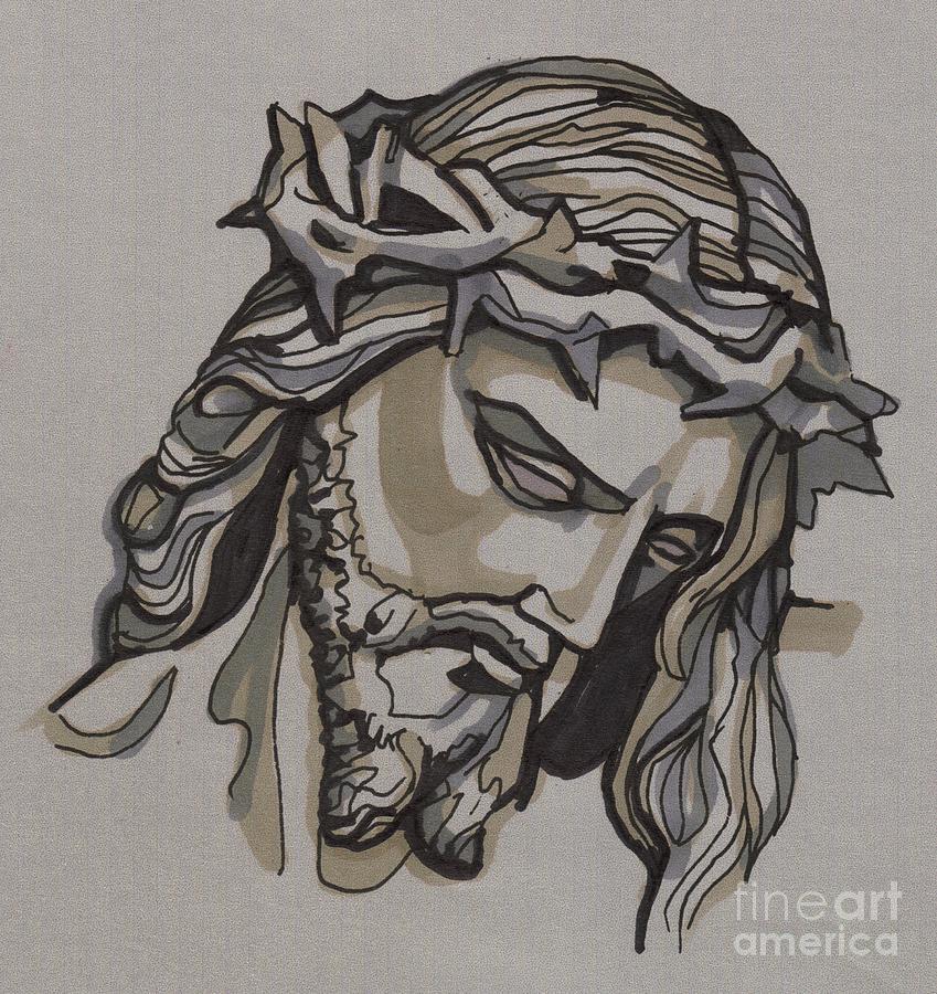 Jesus Painting - Saviour No 3 by Edward Ruth