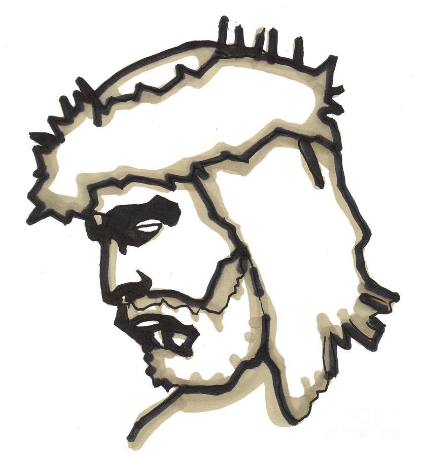 Jesus Painting - Saviour No 5 by Edward Ruth