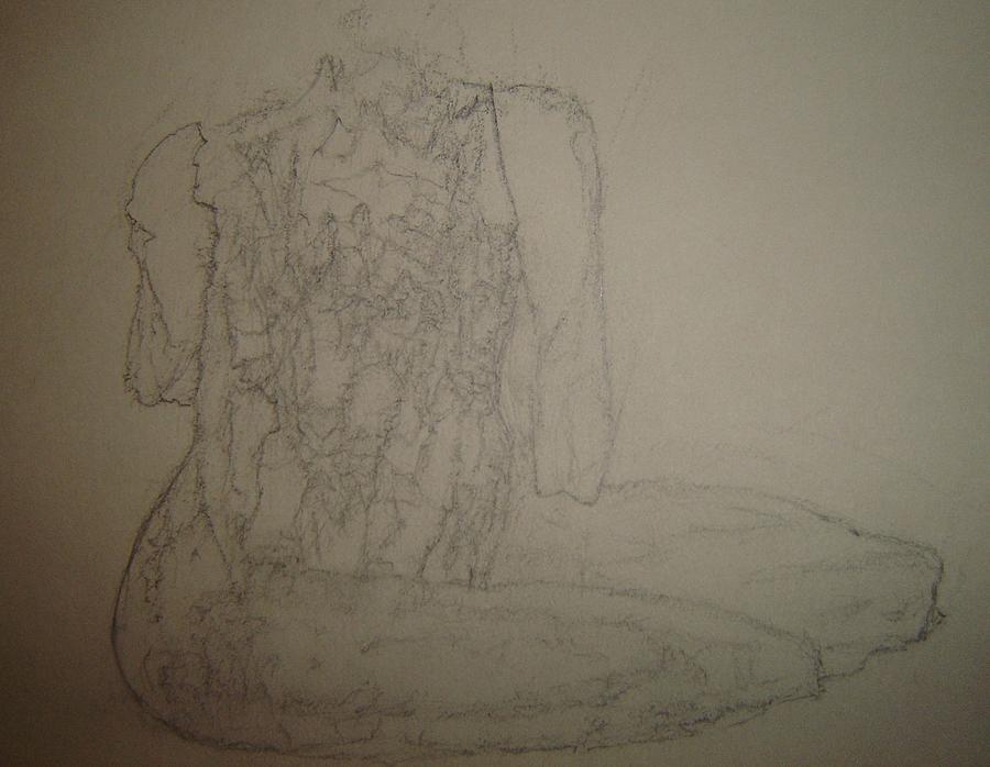 Female Nude Drawing - Savor by Dean Corbin