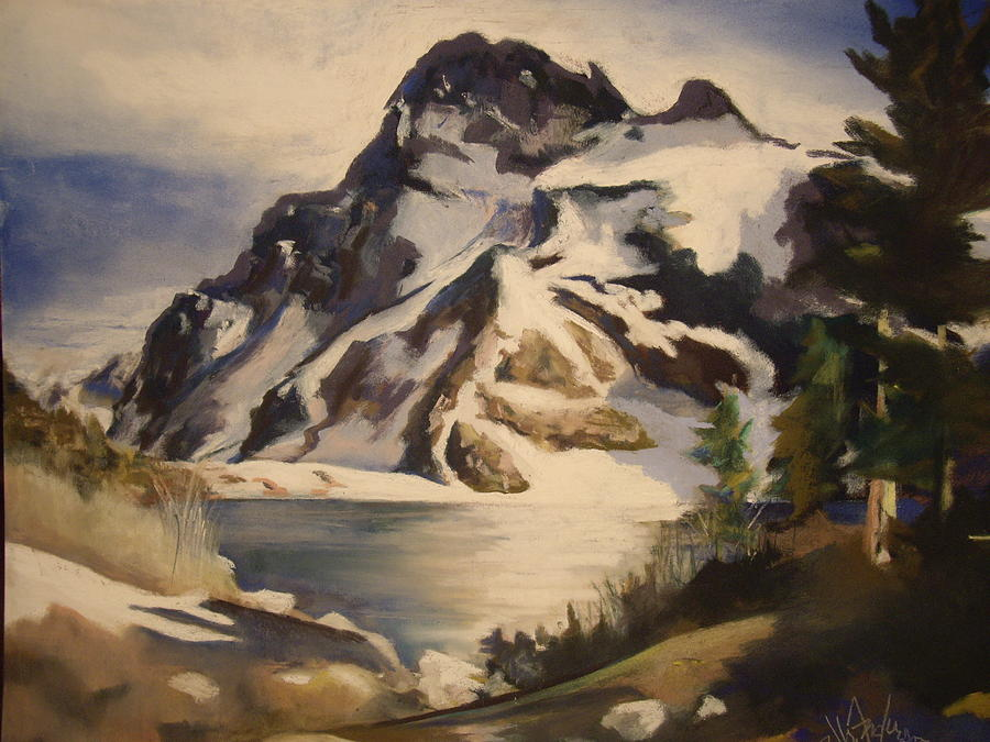 Mountain Painting - Sawtooth Mountain Lake by Debbie Anderson