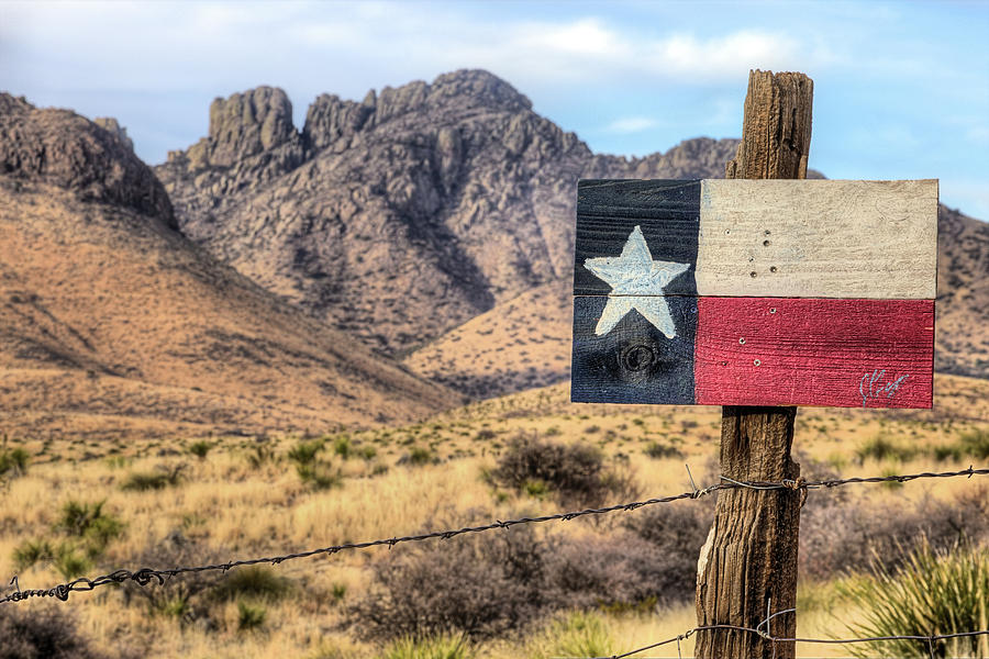 Sawtooth Peak and the Davis Mountains by JC Findley
