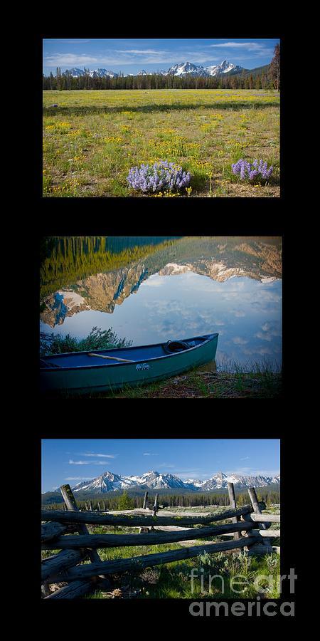 Trio Photograph - Sawtooth Trio by Idaho Scenic Images Linda Lantzy