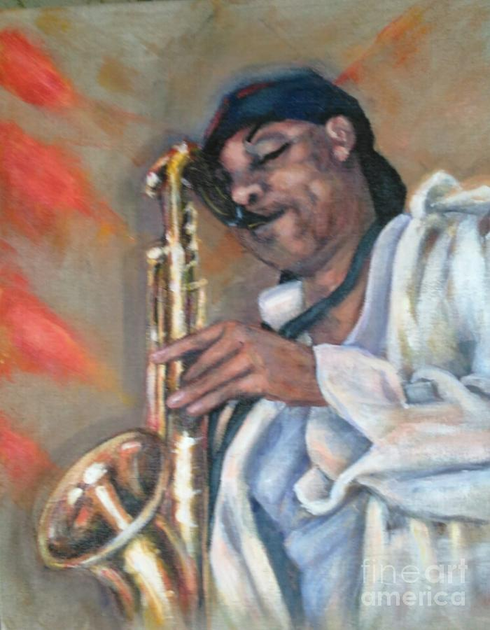Sax and Linen by Beverly Boulet