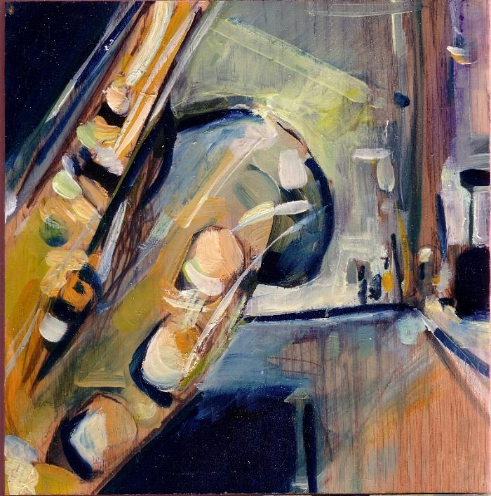 Sax Painting - sax by Drew Davis