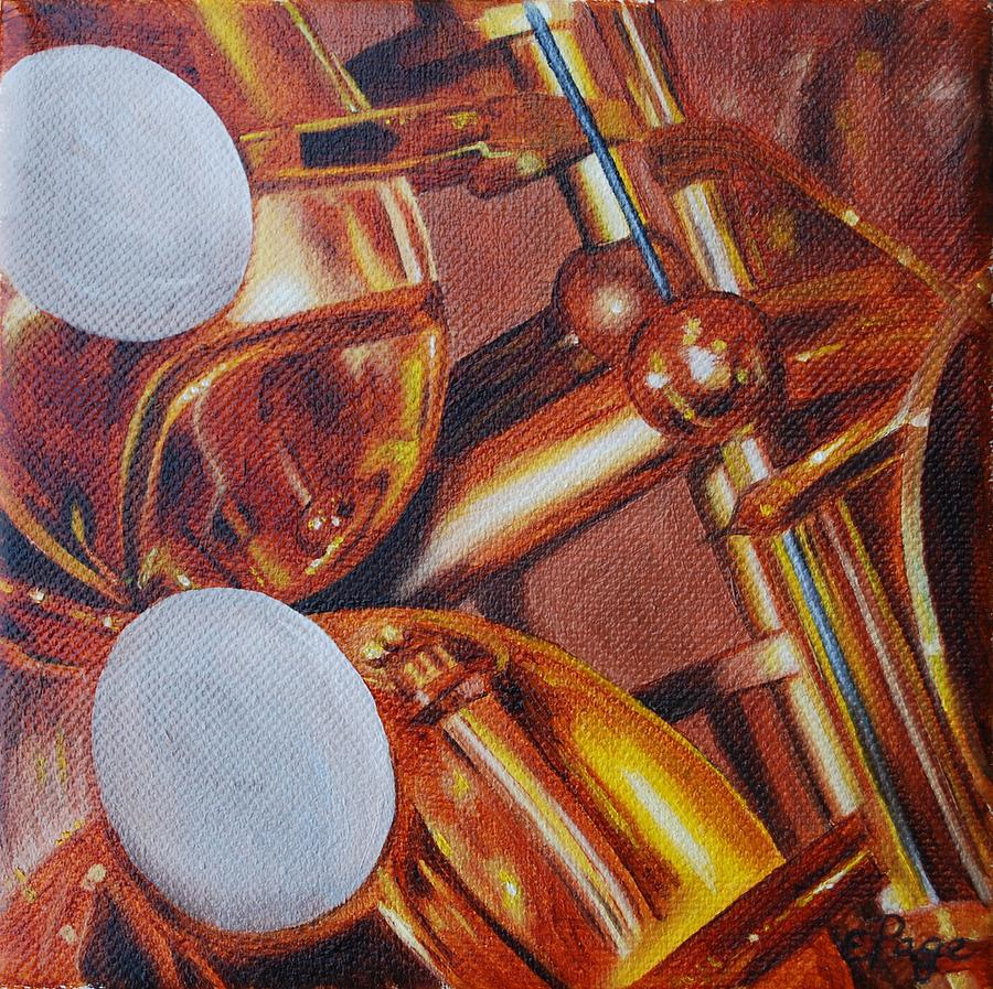Realism Painting - Sax by Emily Page