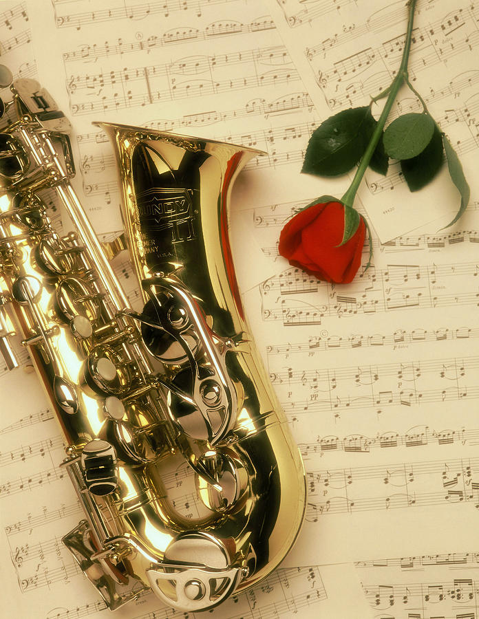 Sax Romance Photograph by Gerard Fritz