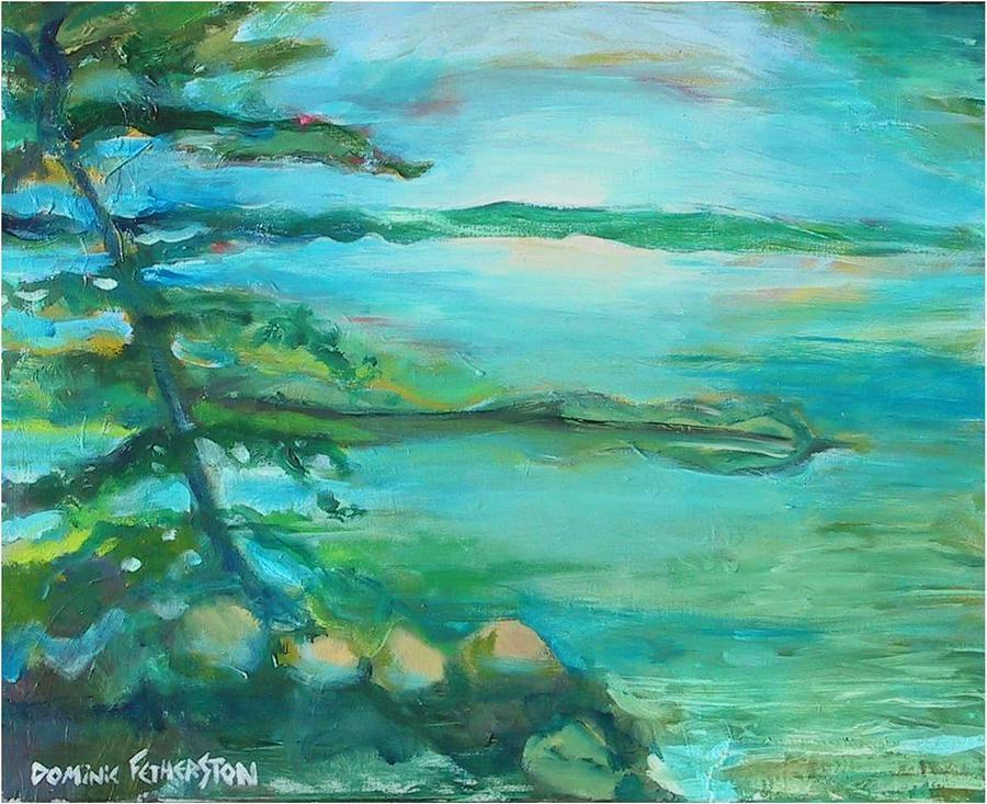 Landscape Painting - Saxe Point by Dominic Fetherston
