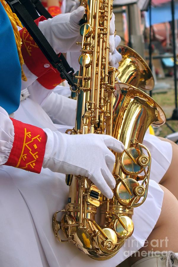 Saxophone Photograph - Saxophone Players by Yali Shi