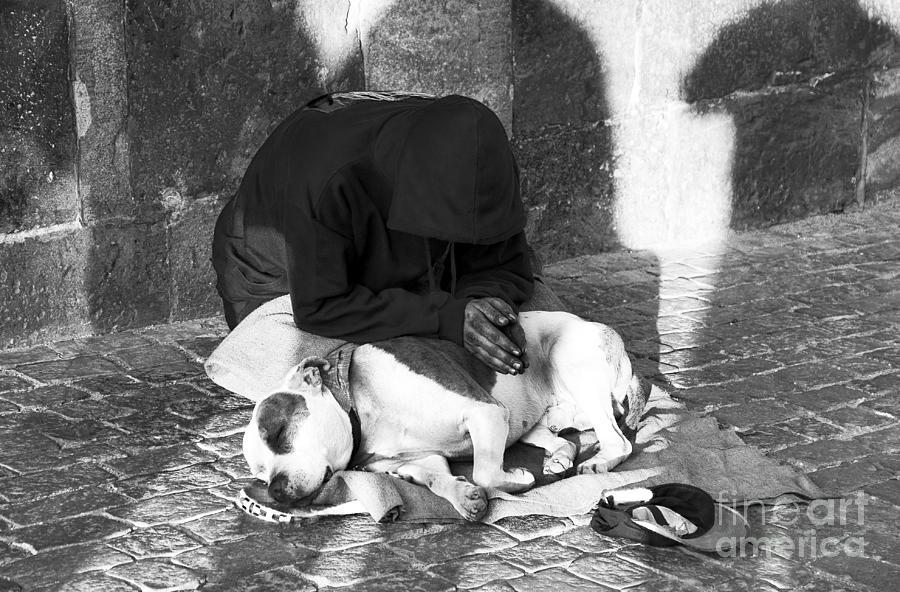 Homeless Photograph - Say A Prayer In Prague by John Rizzuto