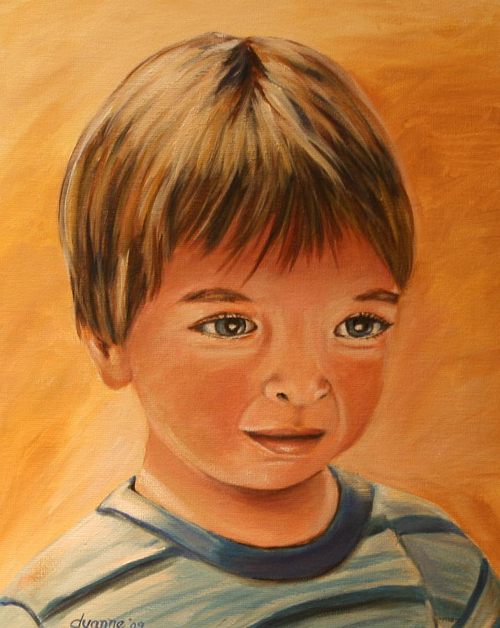 Boy Painting - Say Cheese by Dyanne Parker
