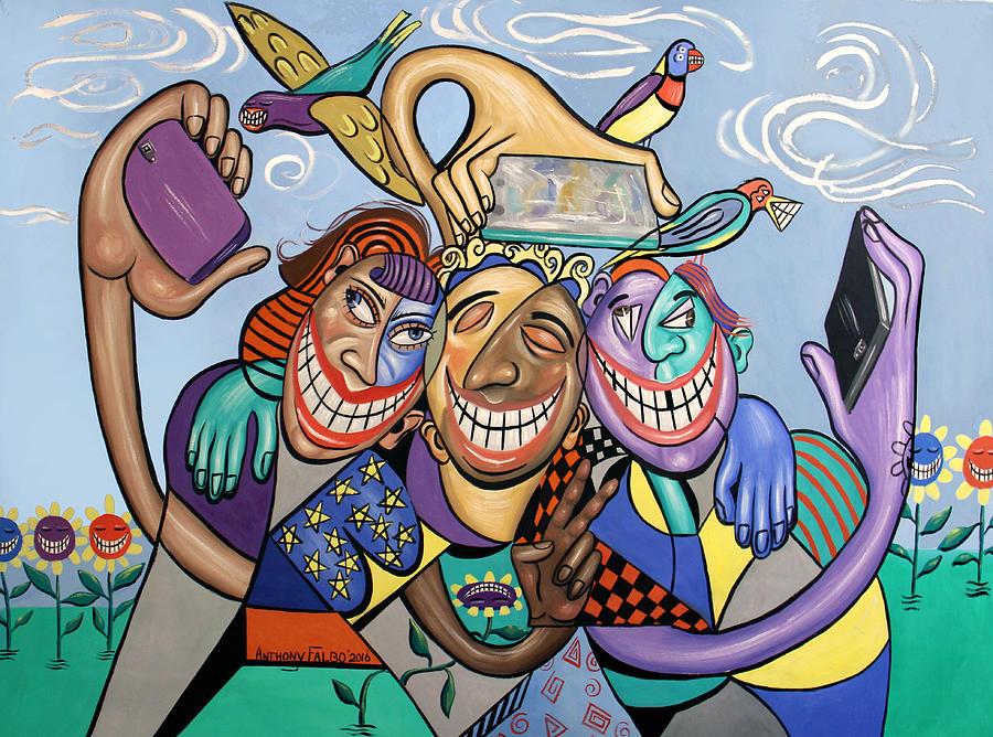 Teeth Painting - Say Cheese Selfie by Anthony Falbo
