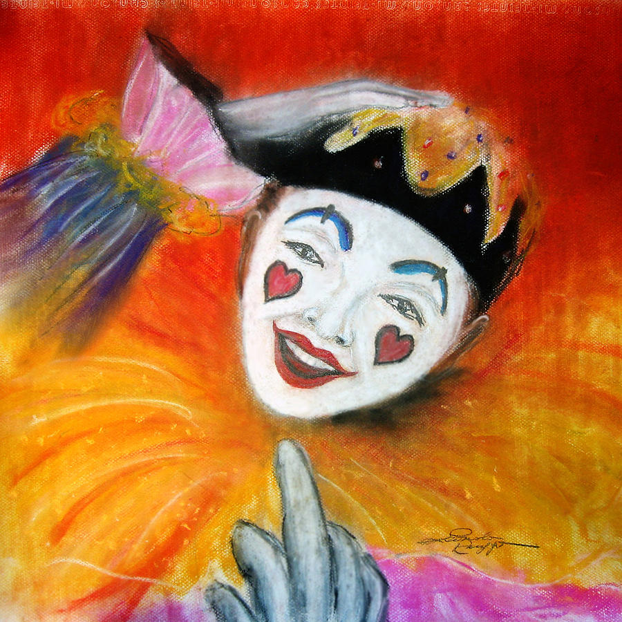 Clowns Painting - Say It With A Smile by Leonardo Ruggieri