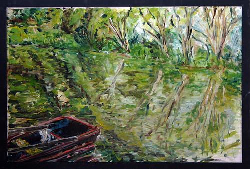 Landscape Painting - Sazava by Pablo de Choros