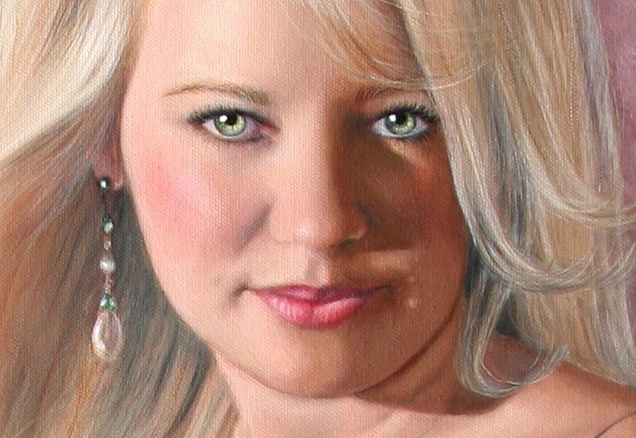 Custom Portrait Painting - Sc Anderson Painting Example Sr by Shirley Catherine Anderson