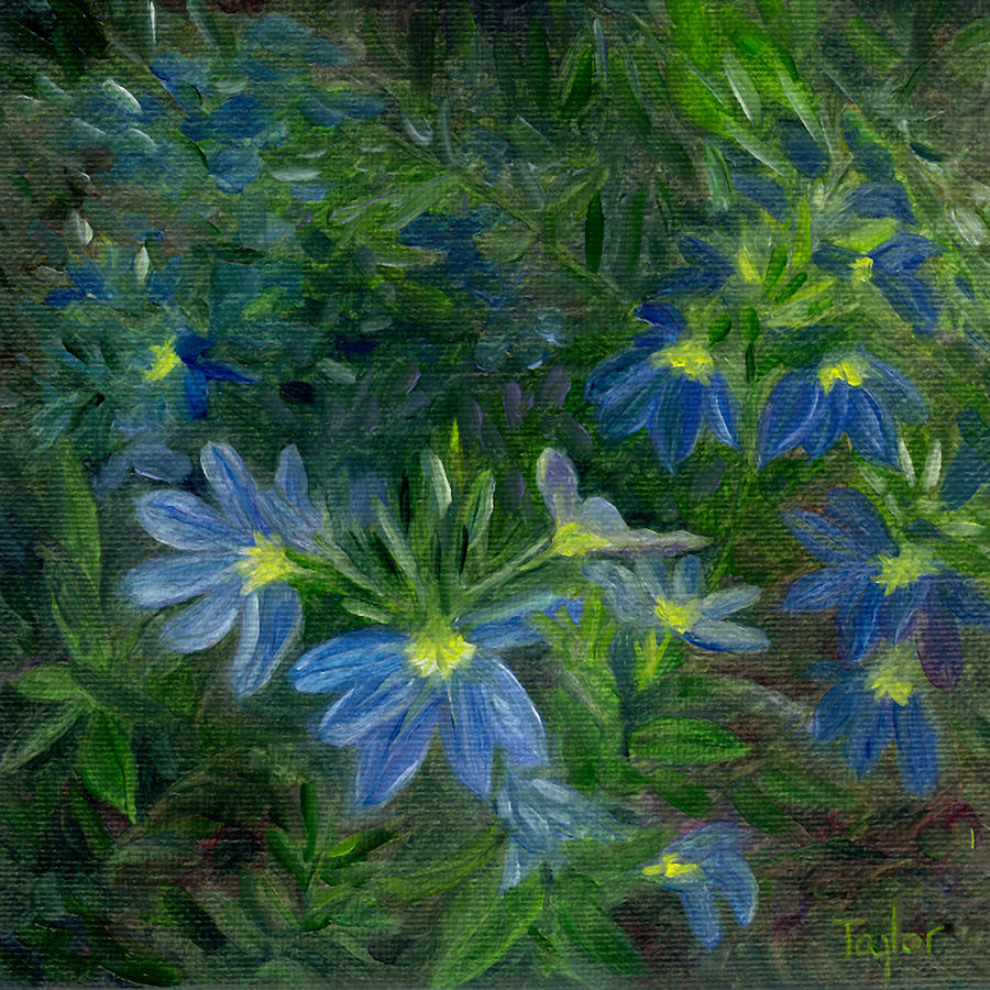 Annuals Painting - Scaevola by FT McKinstry