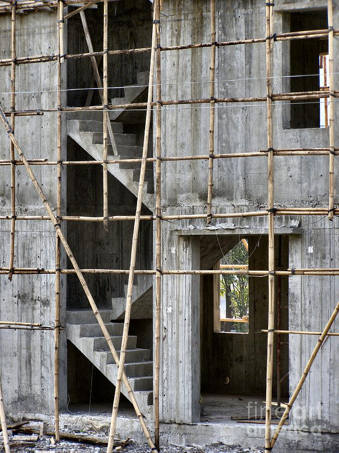 Building Photograph - Scaffolds And Stairs by Kathy Daxon