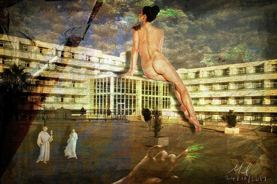 Nude Digital Art - Scale by Mel Beasley