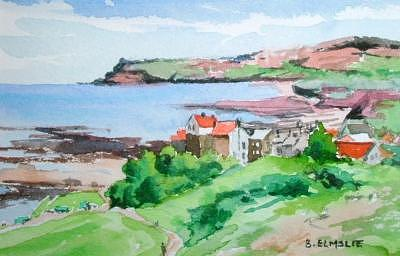 Scarblorough England Painting by Barbara Elmslie